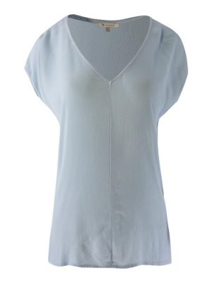 Amy-Top Vneck-Baby Blue-XS