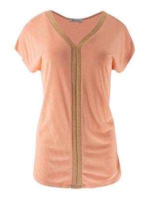 Cato-shirt Vtape Lurex-Peach-XS